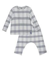 Baby Boys Charlie Check Set -  white