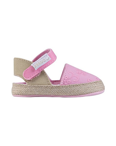 Baby Girls Maisie Anglaise Espadrille -  pink