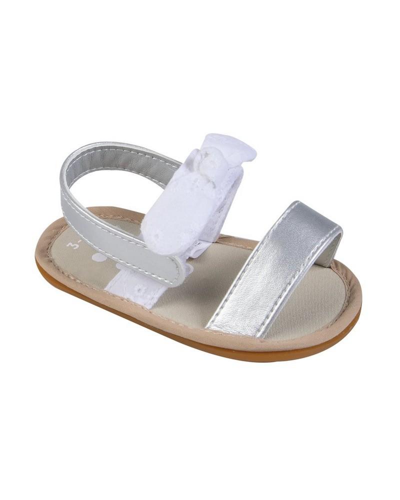Baby Girls Charlotte Soft Sole Sandal -  white