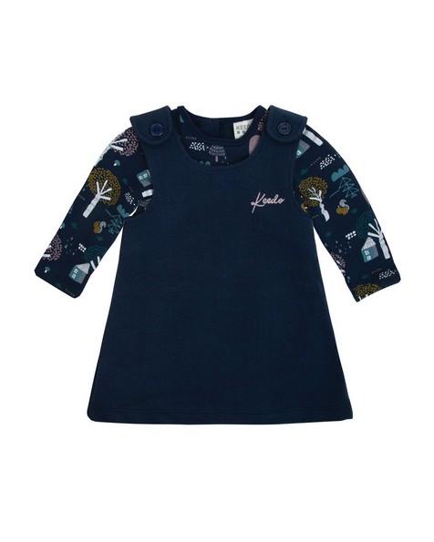 Baby Girls Delia Dress Set -  navy