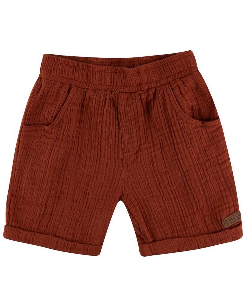 Boys Ross Muslin Shorts -  rust