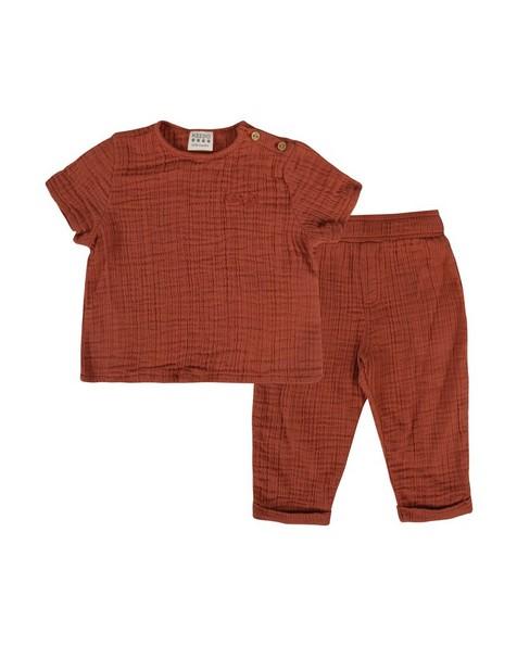 Baby Boys Ross Muslin Set -  rust