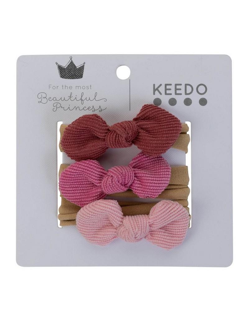 Girls 3-Pack Alexa Headband -  pink