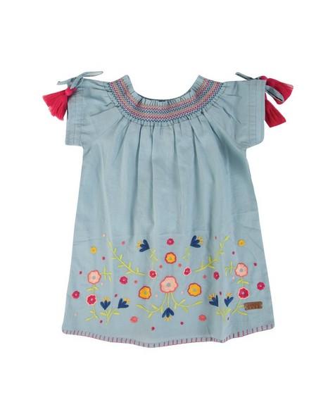 Baby Girls Harmony Tassel Dress -  lightblue