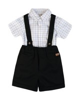 Baby Boys Archie Smart Set -  white