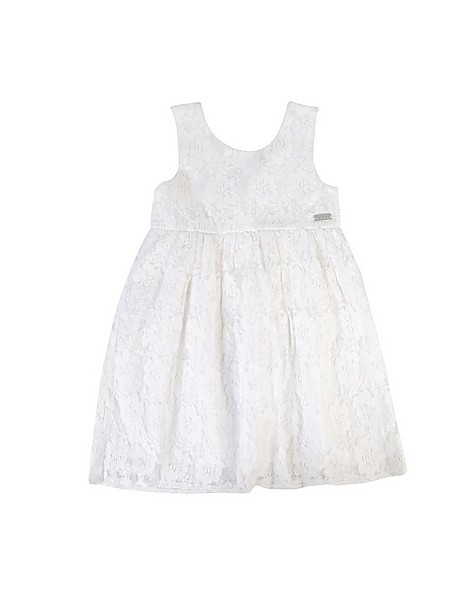 Girls Posie Lace Dress -  white
