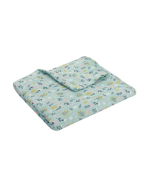 Baby Girls Lena Muslin Blanket -  lightblue