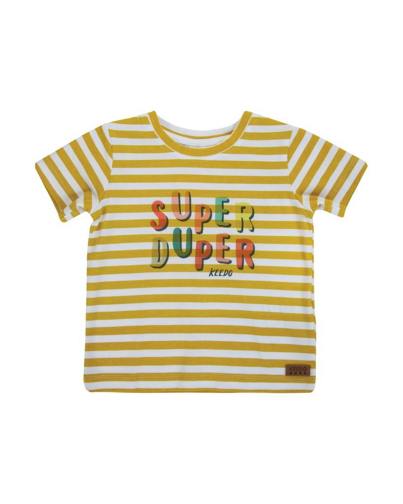 Baby Boys Ben Stripe Tee -  chartreuse