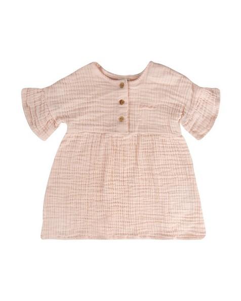 Baby Girls Donna Muslin Dress -  palepink