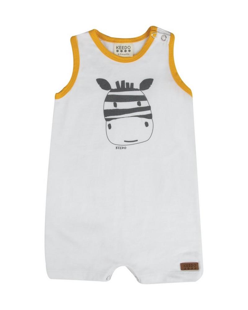 Baby Boys Kyle Sleeveless Grow -  white
