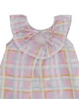 Baby Girls Dahlia Check Dress -  palepink