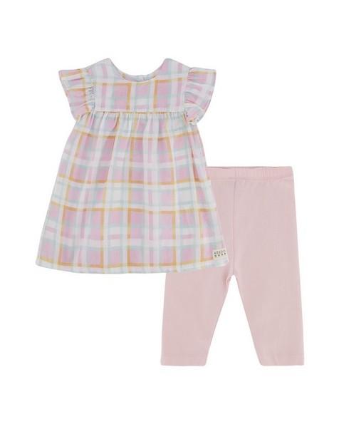 Baby Girls Dahlia Check Set -  palepink