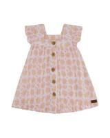 Baby Girls Magnolia Frill Dress -  white