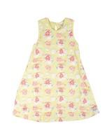 Girls Piper Flare Dress -  lemon