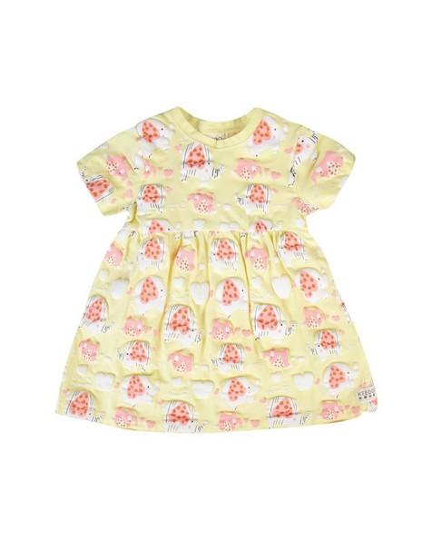 Baby Girls Piper Dress  -  lemon
