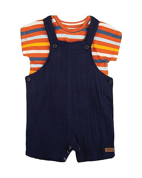 Baby Boys Marshall Dungi Set -  navy