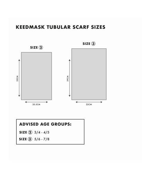 Girls Keedmask Stripe Tubular Scarf -  assorted