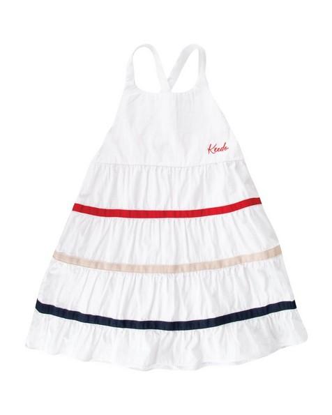 Girls Peace Dress -  white