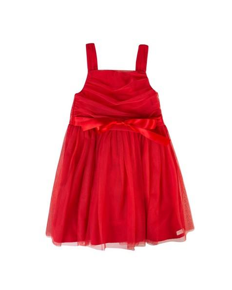 Girls Carol Dress -  tomato