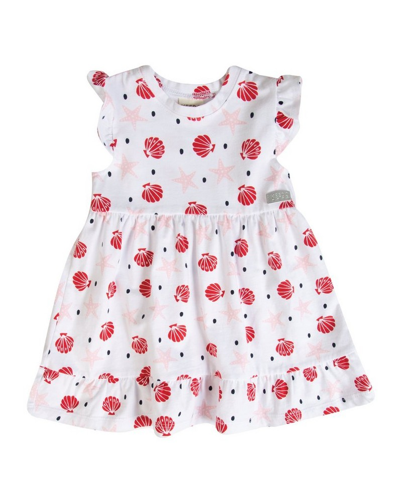 Baby Girls Pansy Flare Dress -  white