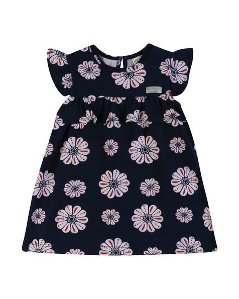 Baby Girls Azalea Frill Dress -  navy
