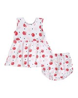 Baby Girls Pansy Set -  white