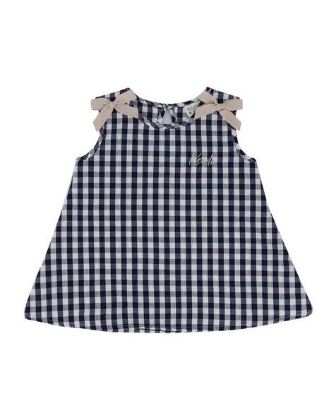 Baby Girls Billie Bow Set  -  navy