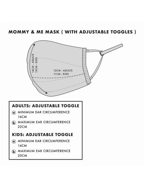Keedmask Mommy & Me Matching Mask Set -  assorted