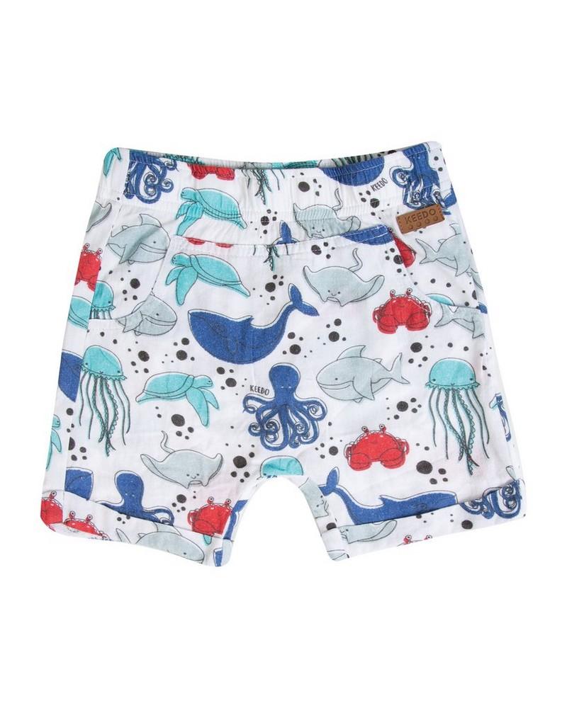 Baby Boys Chris Shorts -  white