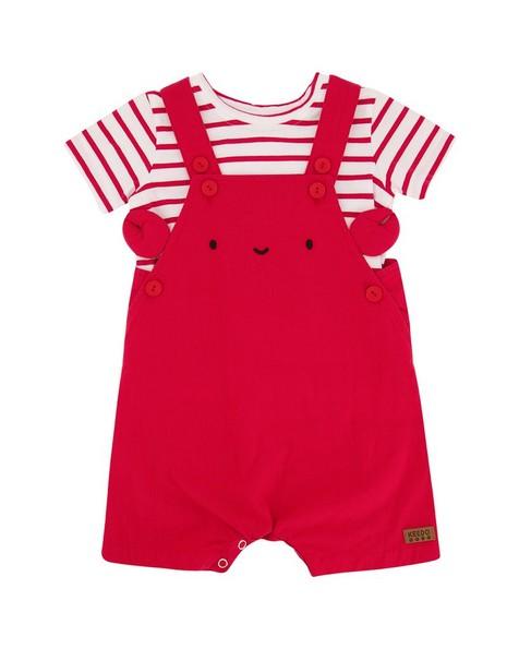 Baby Boys Seb Crab Set -  tomato