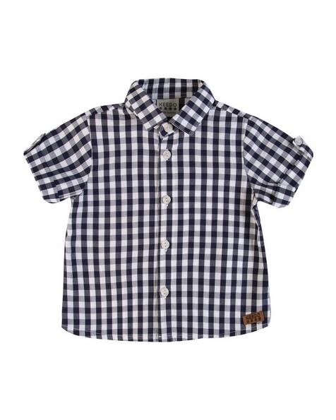 Baby Boys Eric Check Shirt  -  navy
