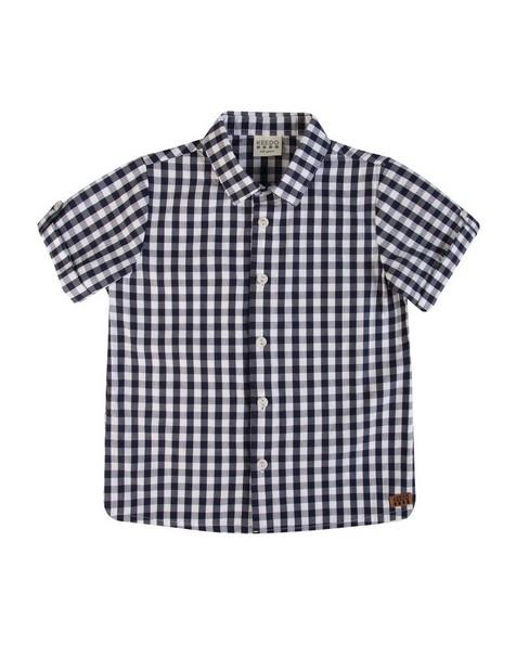Boys Eric Check Shirt -  navy