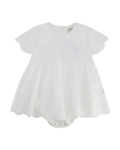 Baby Girls Dora Anglaise Grow -  white