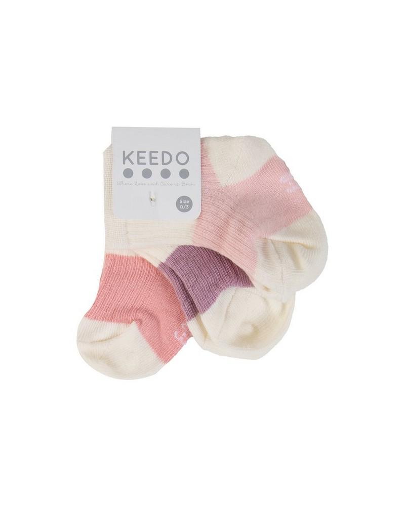 Baby Girls Haley 3-Pack Ribbed Socks -  white