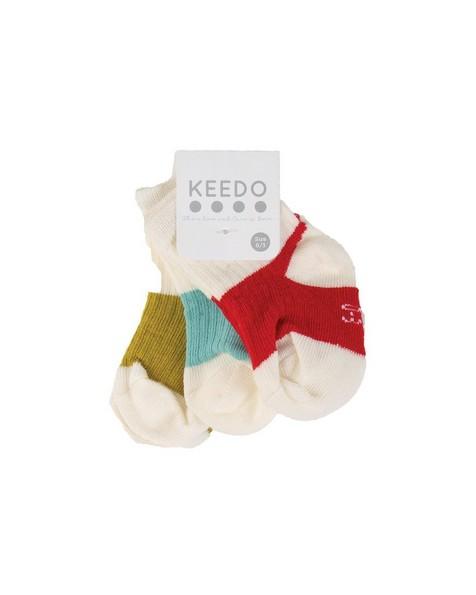 Baby Boys Hayden 3-Pack Ribbed Socks -  white