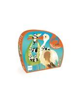 Stork Contour Puzzle -  orange