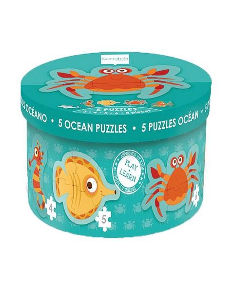 Ocean Starter Puzzles -  blue