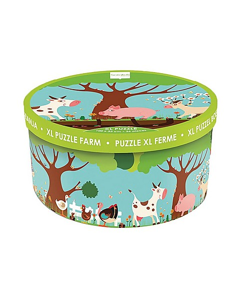 XL Farm Floor Puzzle -  green