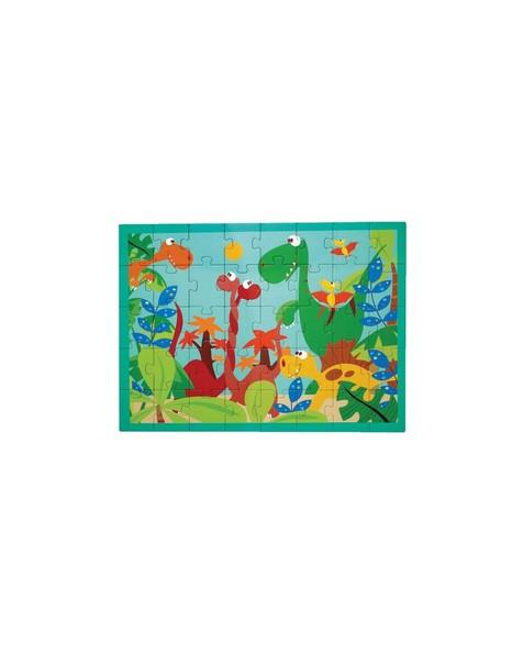 Dino World Puzzle -  blue