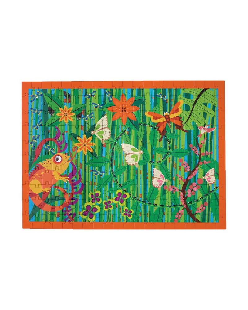 Crazy Jungle Puzzle -  orange