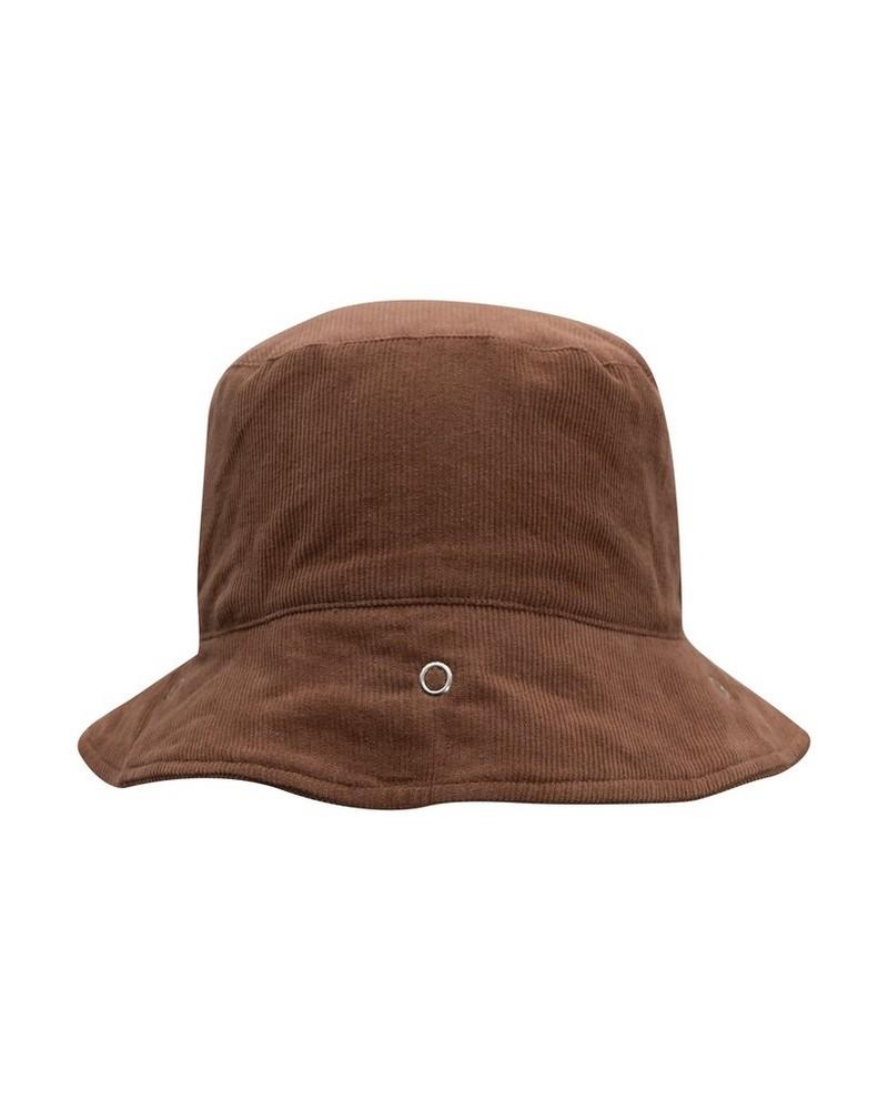 Babies Protective Brown Corduroy Bucket Hat -  tan
