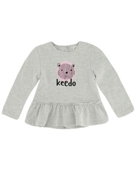 Baby Girls Mari Peplum Tee -  silvergrey