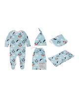 Baby Boys Penguin Starter Kit -  aqua