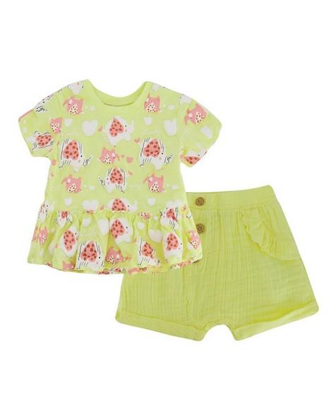 Baby Girls Piper Peplum Set  -  lemon