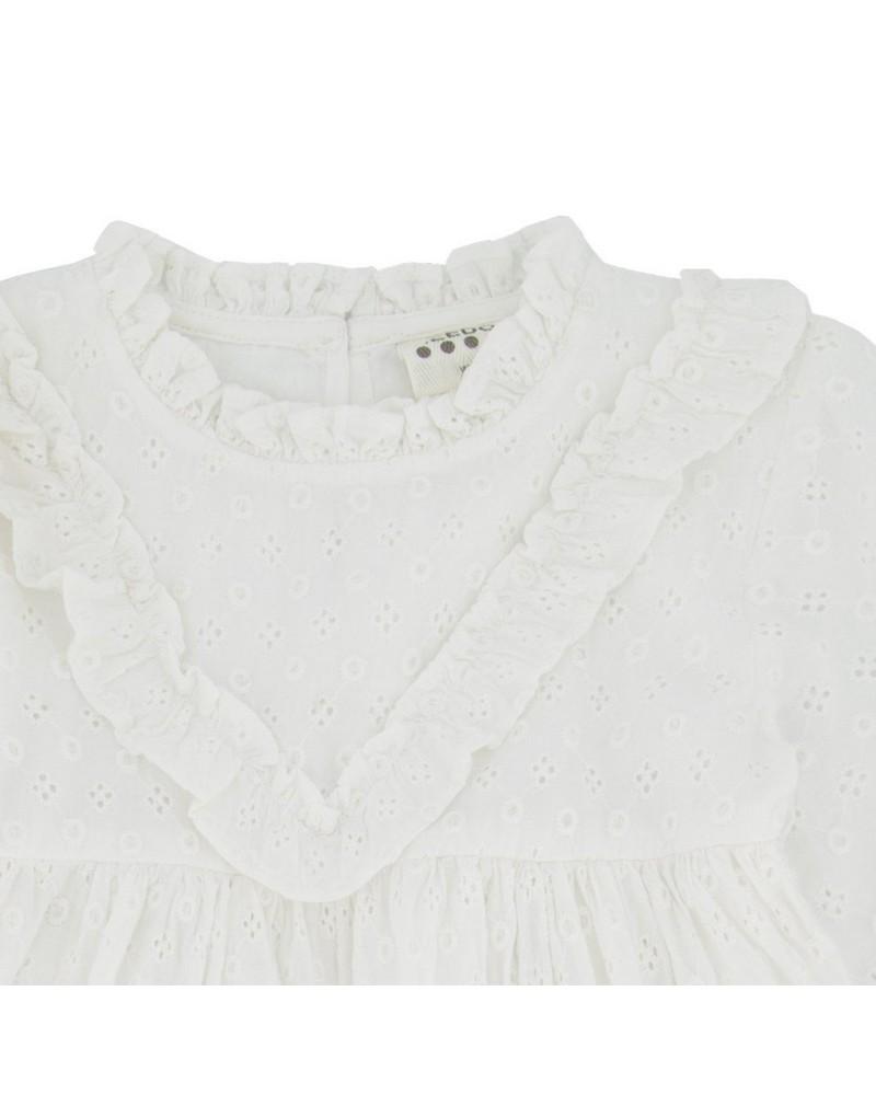 Baby Girls Heather Angliase Dress  -  white