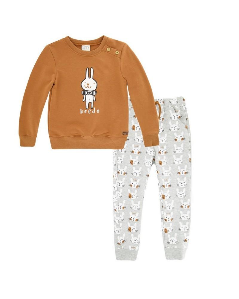 Boys Smart Bunny Set -  camel