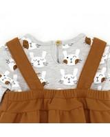 Baby Girls Bunny Pinni Set -  camel