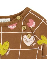 Heart Grid Grow -  brown
