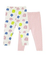 Baby Girls Kaia 2-Pack Leggings  -  assorted