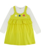 Girls Adalee Dress Set -  yellow